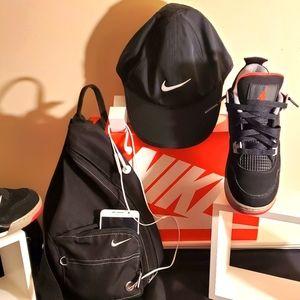 NIKE Black NWOT Runner Hat & NIKE Sling Backpack